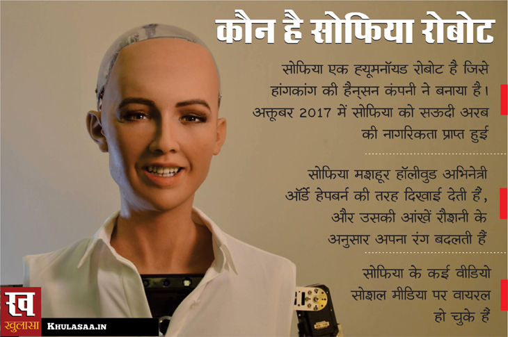 information about sophia robot