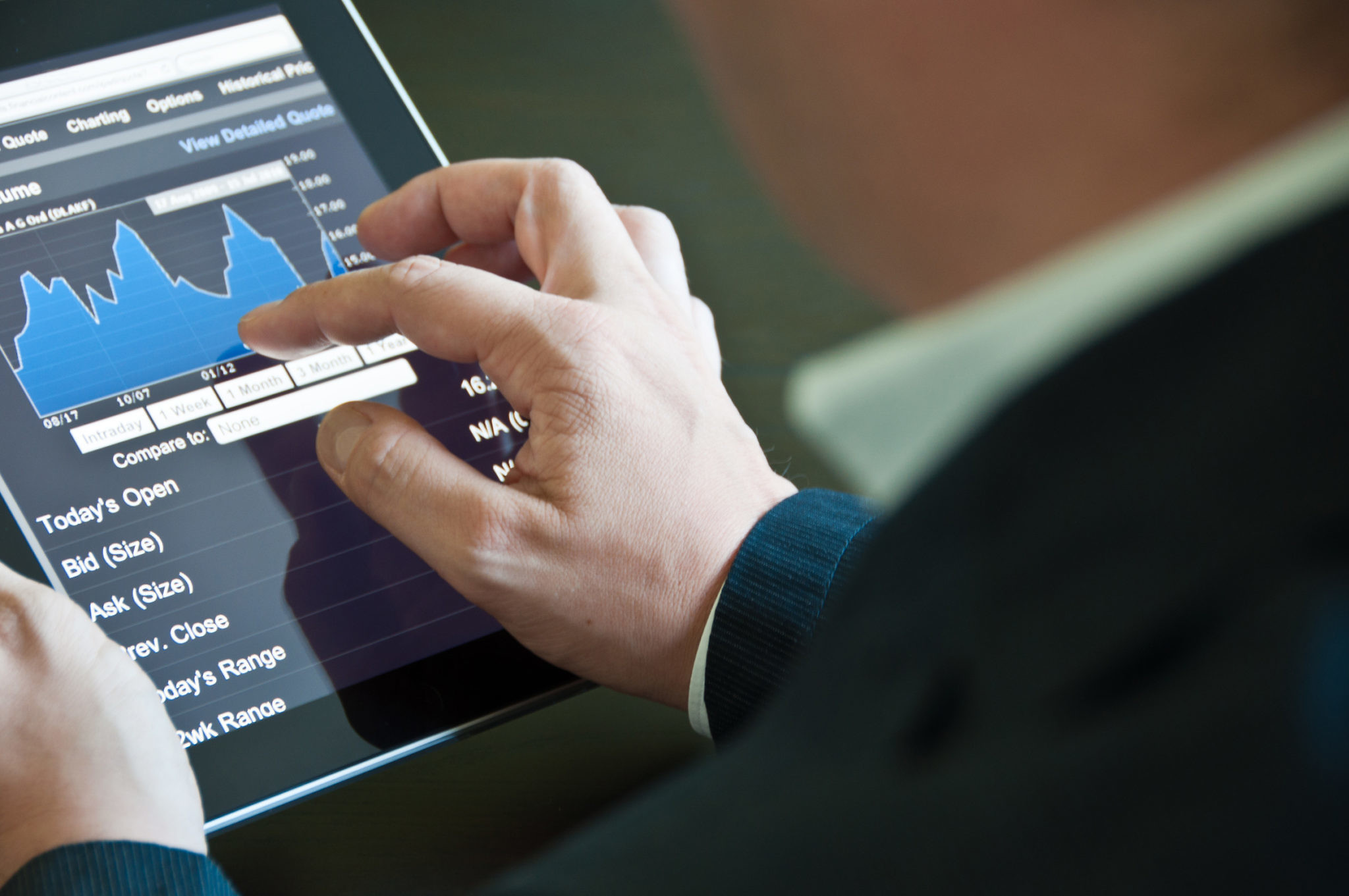 Businessman with digital tablet PC