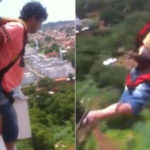 A brazil man jump from balcony video viral