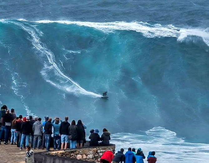 Big wave surfing in nazare portugal-2