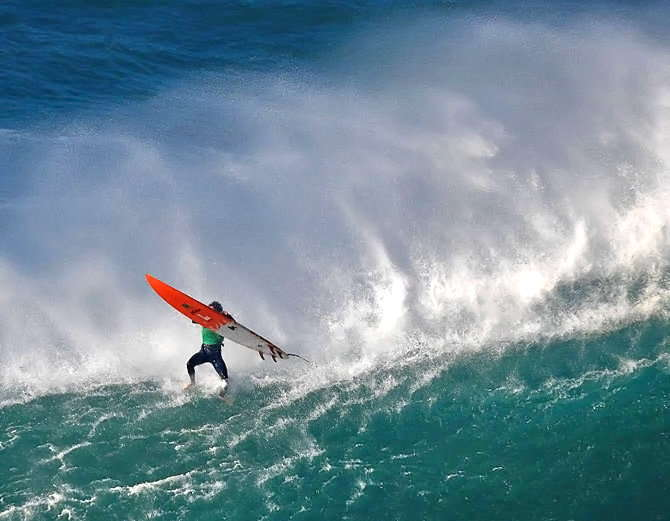 Big wave surfing in nazare portugal-3
