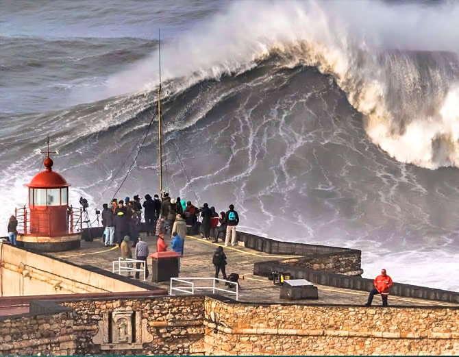 Big wave surfing in nazare portugal-4