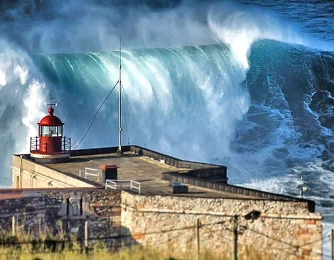 Big wave surfing in nazare portugal-6