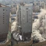 High-rise building demolished in 10 seconds