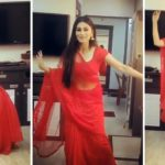 Mouni Roy's Hot Seducing Dance in Red Saree