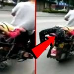 Shocking Incident Of A Father Tied Her Daughter On A Bike