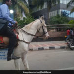 Bangalore Software Engineer Rides a Horse to office on last day of work