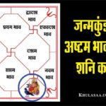 Shani (Saturn) Eighth house In Birthchart In Hindi