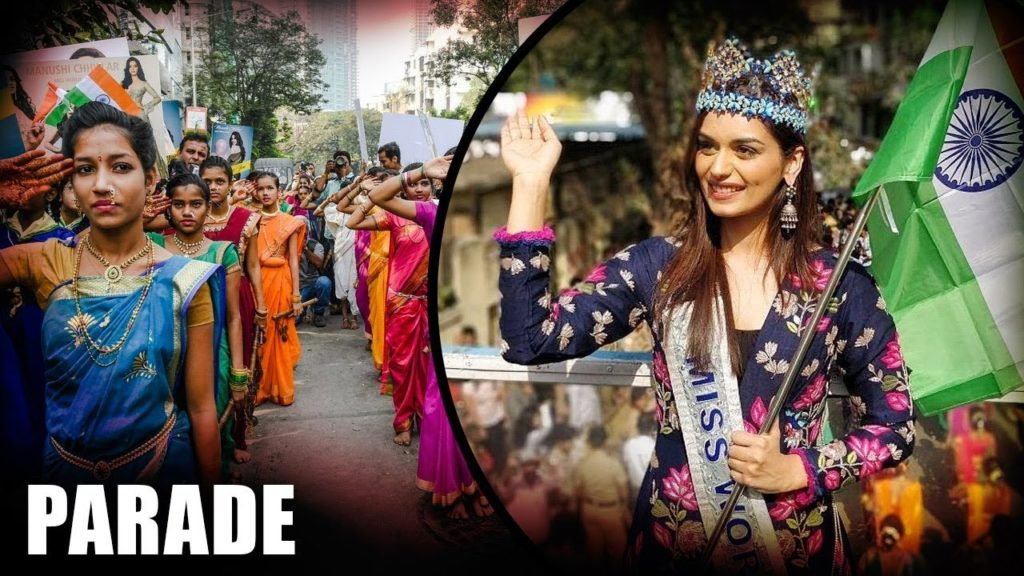 Miss World Manushi Chhillar's homecoming parade in Delhi