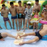 Toe wrestling contest held in China viral video