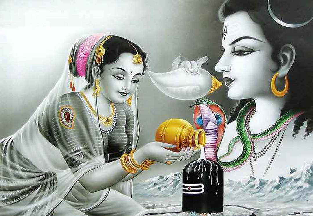 Why do Hindus offer cow milk to Lord Shiva
