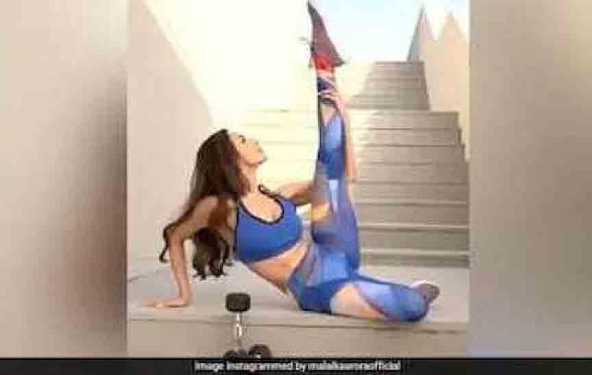 Bollywood Actress Malaika Arora Gym Exercise Video Viral on Social Media