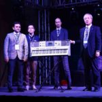 L-R - Rehan Siddiqui, Business head, Mr Hisayoshi Matsui GM Musical instruments, Mr Masayuki Imanishi- Director Sales and Marketing, Mr Takashi Haga- MD Yamaha Music India