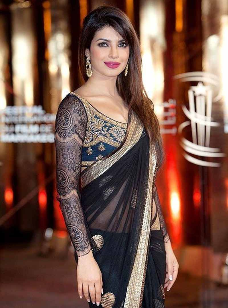 Priyanka Chopra Gets Trolled For Wearing A Blouse-Less Saree 'Cause Slut Shaming Is Our Fave Hobby